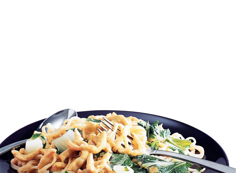 Kalkoencurry met gestoomde groente