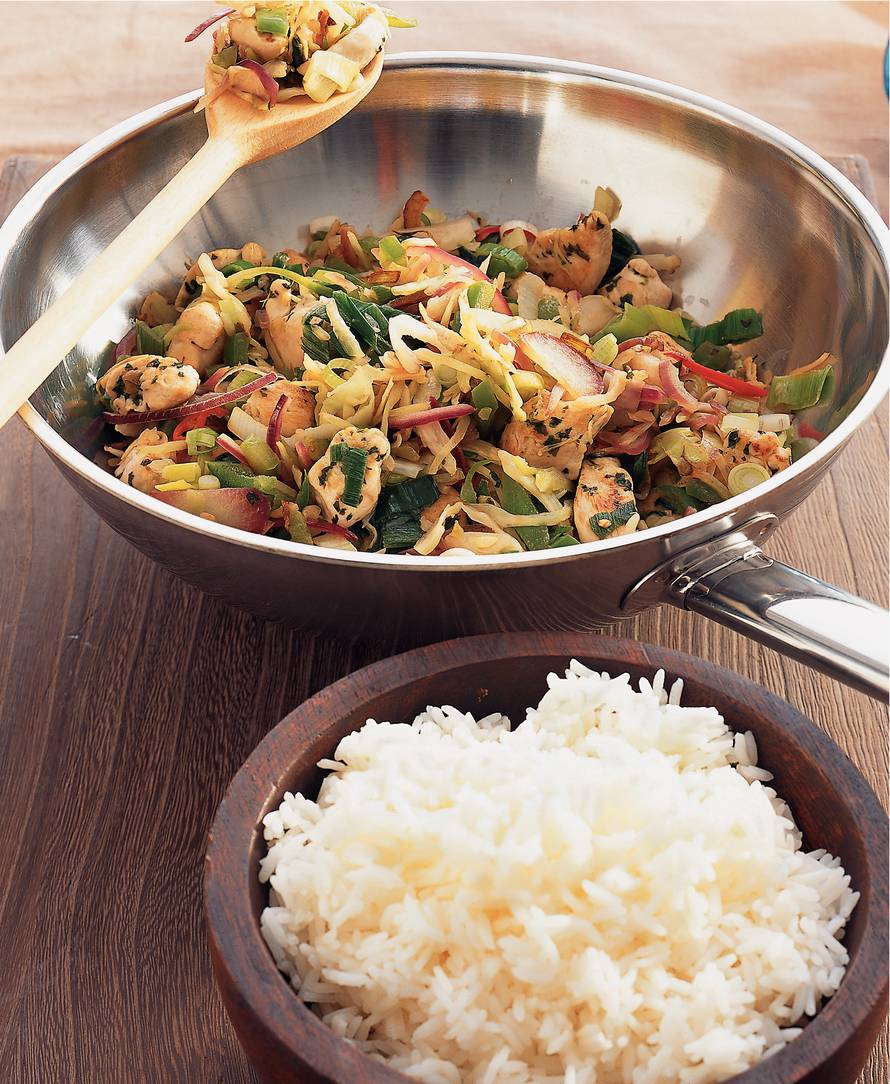 Korianderkip uit de wok