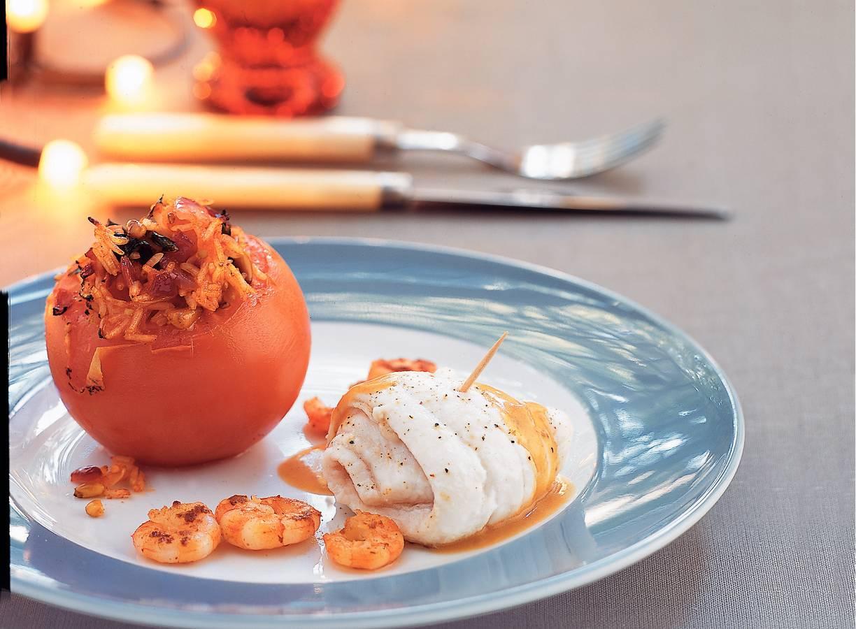 Gevulde tomaten met kruidenrijst