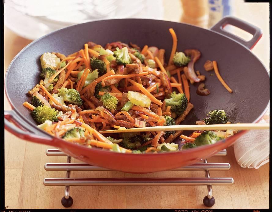 Broccolischotel met shoarmareepjes