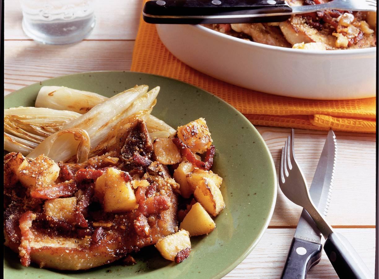 Karbonade met appel uit de oven