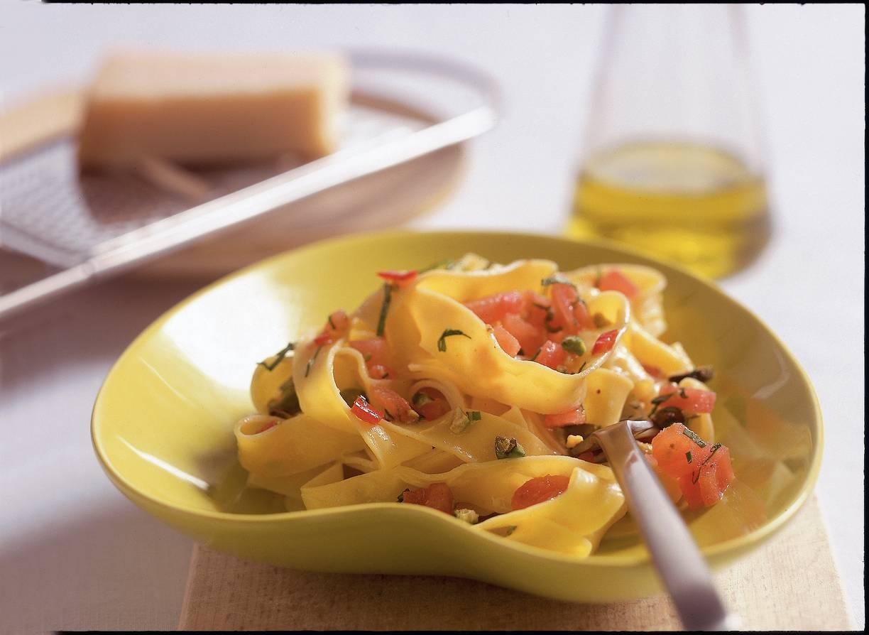 Pappardelle met verse tomatensaus