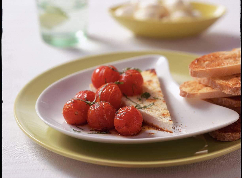 Ricotta met geroosterde cherrytomaatjes