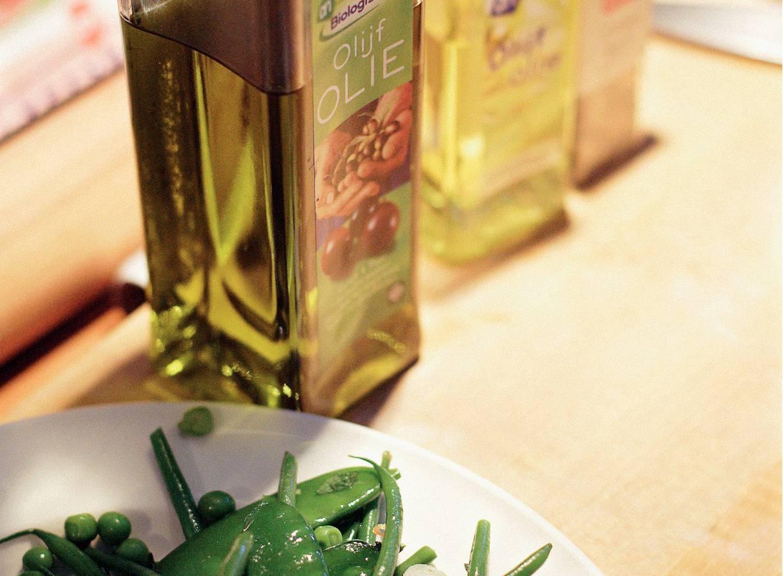 Groene-bonensalade met munt en sjalot