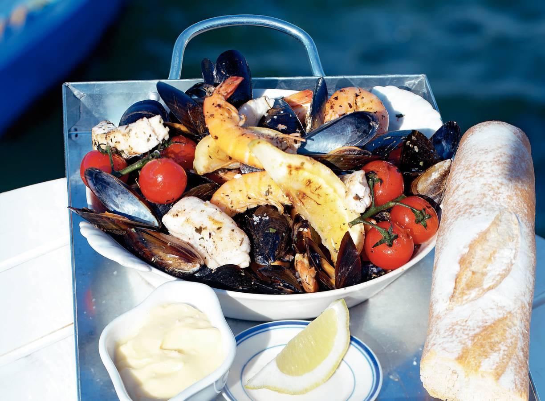 Geroosterde fruits de mer