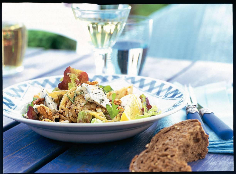 Salade met geroosterde venkel en roquefort