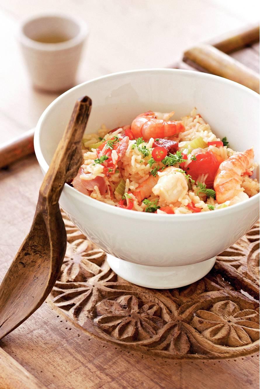 Caribische rijstschotel (jambalaya)