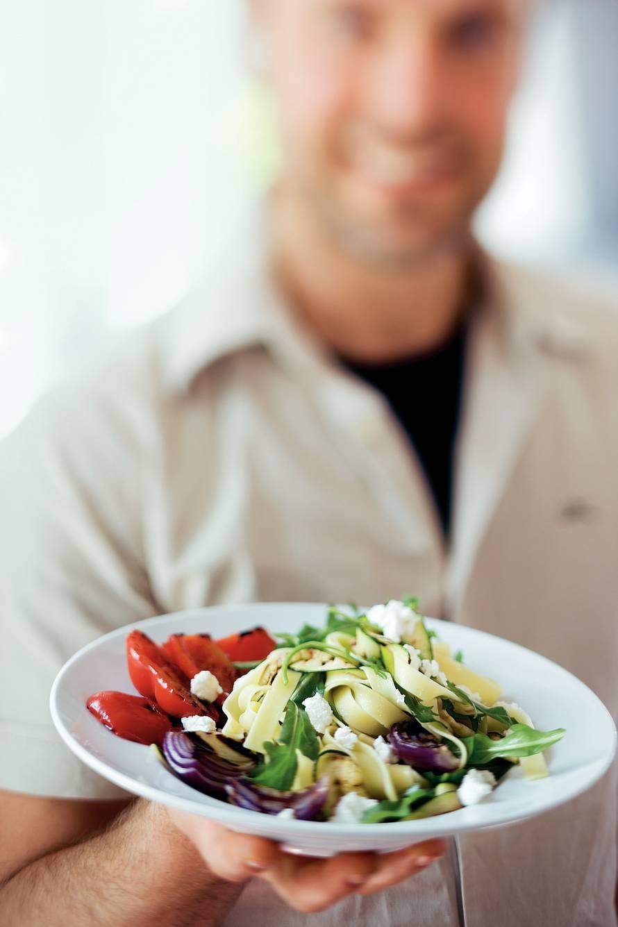 Tagliatelle met gegrilde groenten
