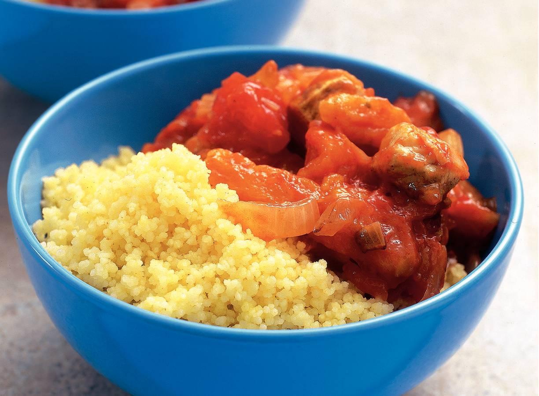 Couscous met kip en abrikozen
