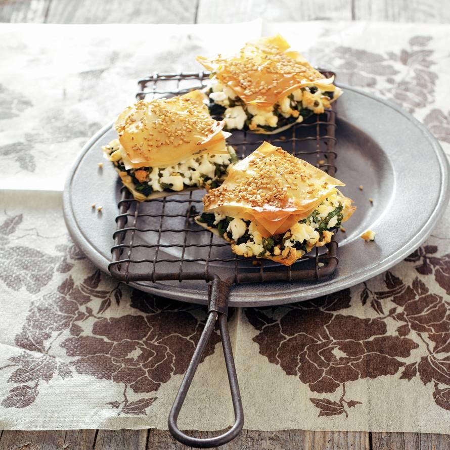 Turkse filodeeghapjes met witte kaas