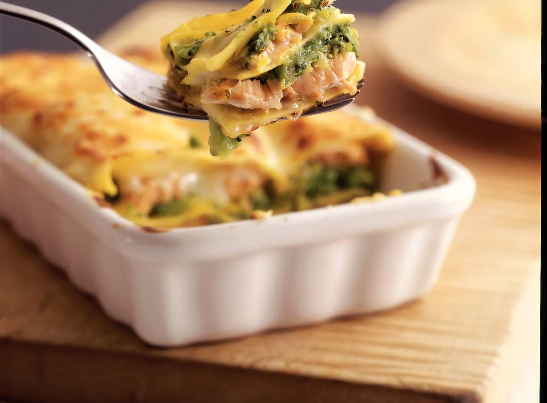 Zalm-broccolilasagne