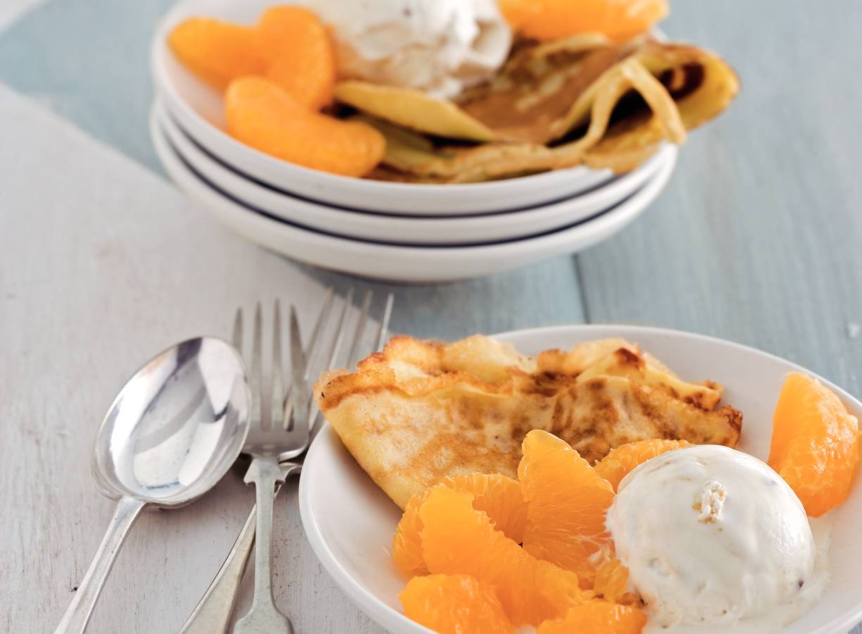Flensjes met mandarijn
