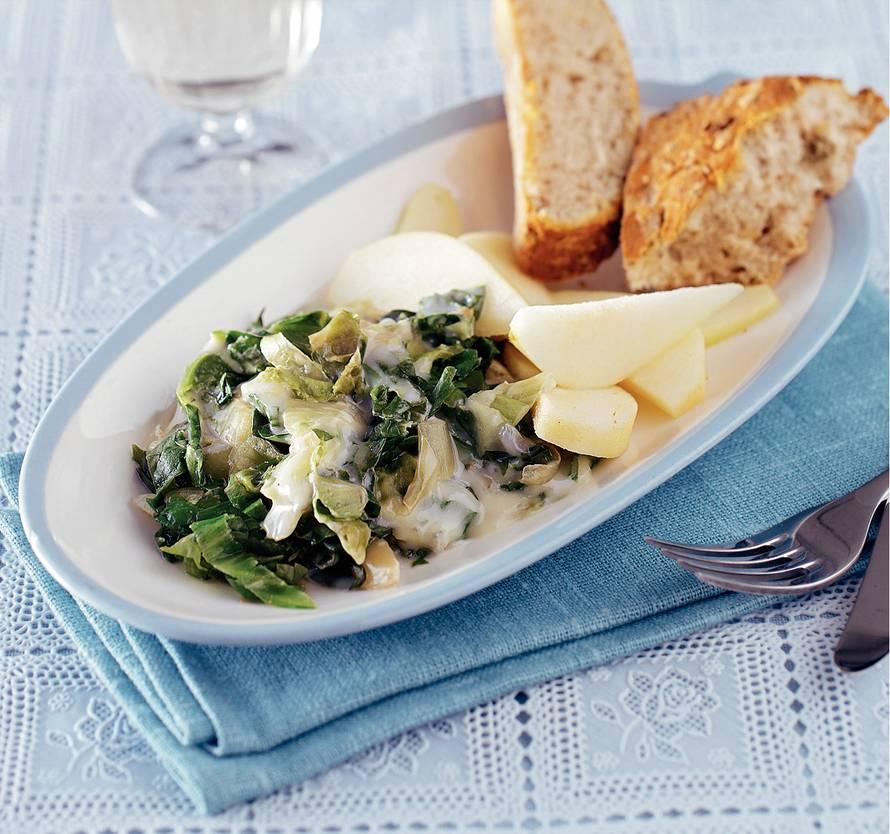 Andijvie met gorgonzola en peer
