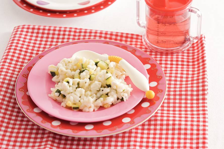 Rijst met courgette en mozzarella (baby 12-18 maanden)