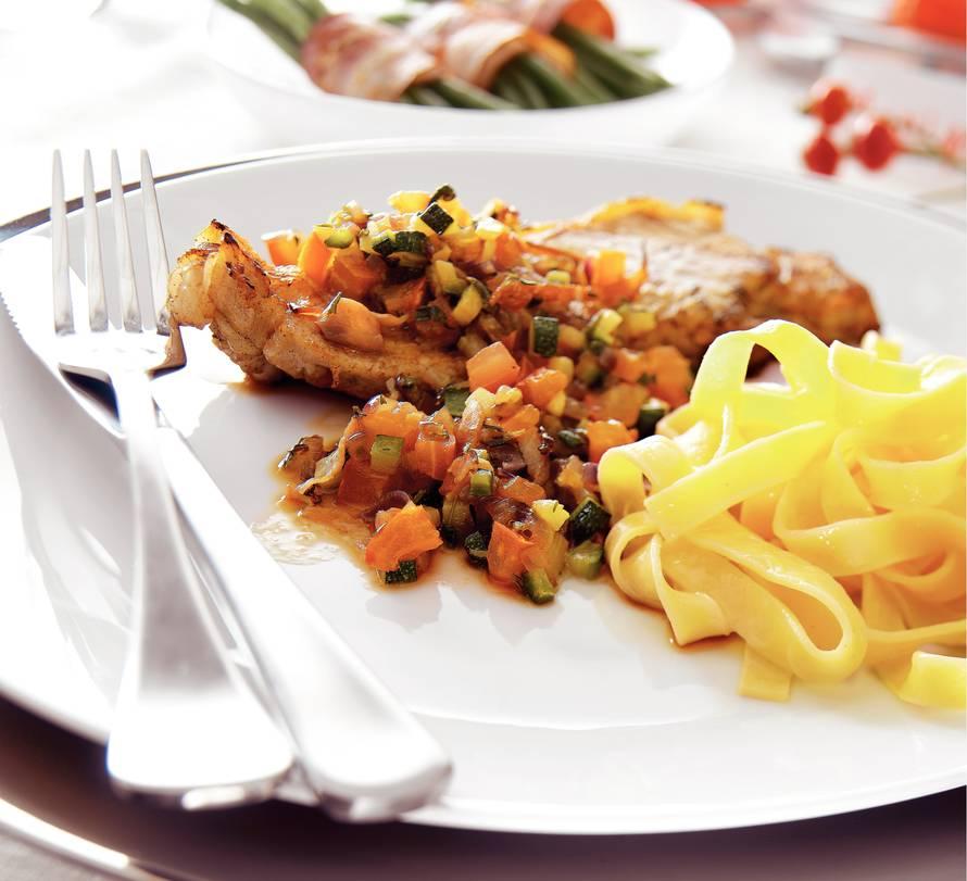 Kalfsentrecote met fijne groenten