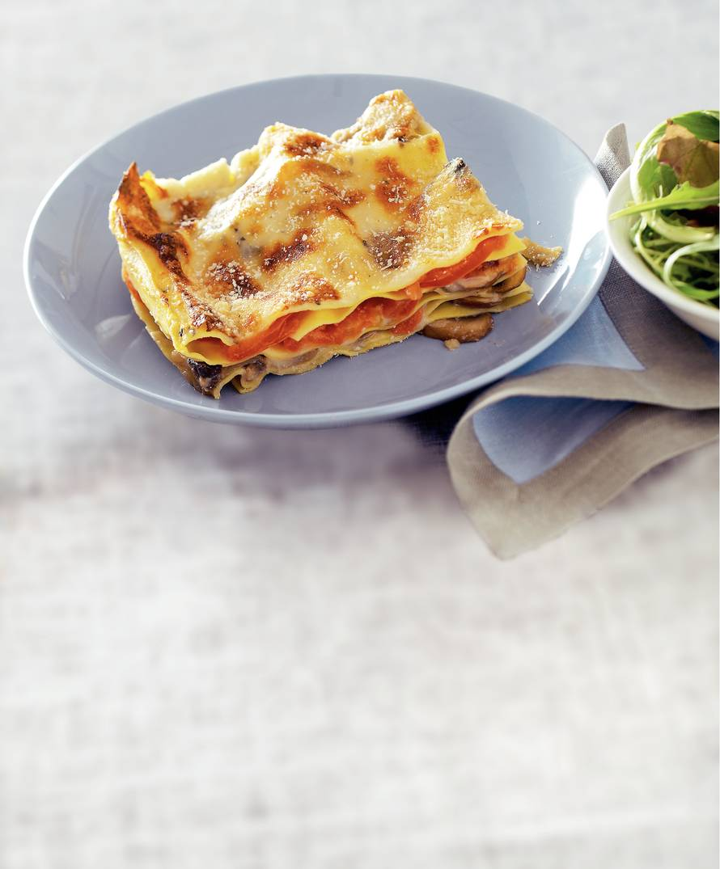 Lasagne met paddenstoelen en gorgonzola