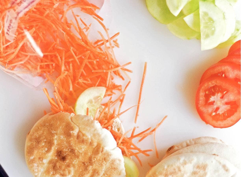 Pita varkensfilet met groenten
