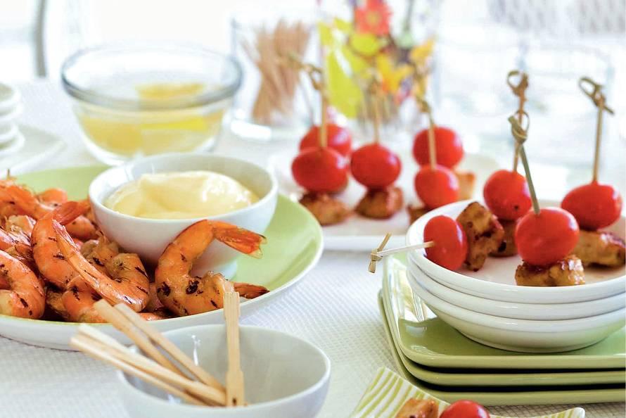 Kipspiesjes met abrikoos