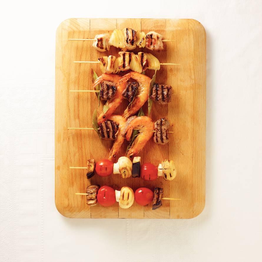 Aubergine met champignon en tomaat