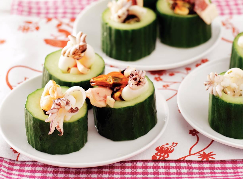 Zeevruchten met komkommer