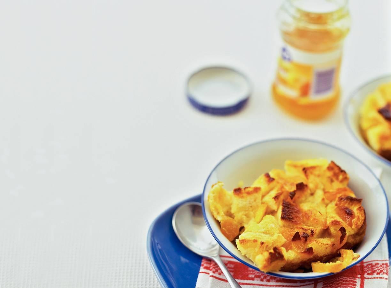 Broodpudding met abrikozen