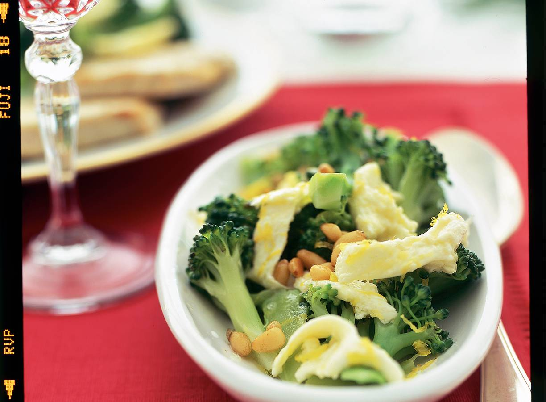 Aspergebroccoli met citroenmozzarella