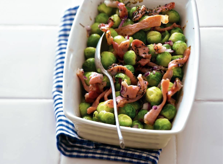 Spruitjes uit de oven met bacon
