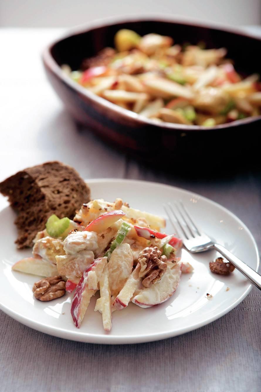 Snelle waldorfsalade