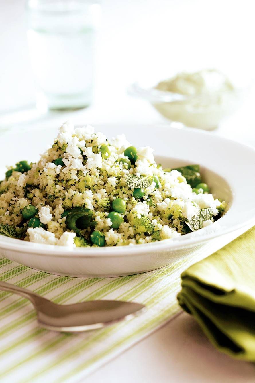 Broccolicouscous met witte kaas