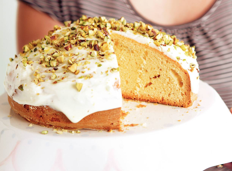 Cake met limoenmascarpone