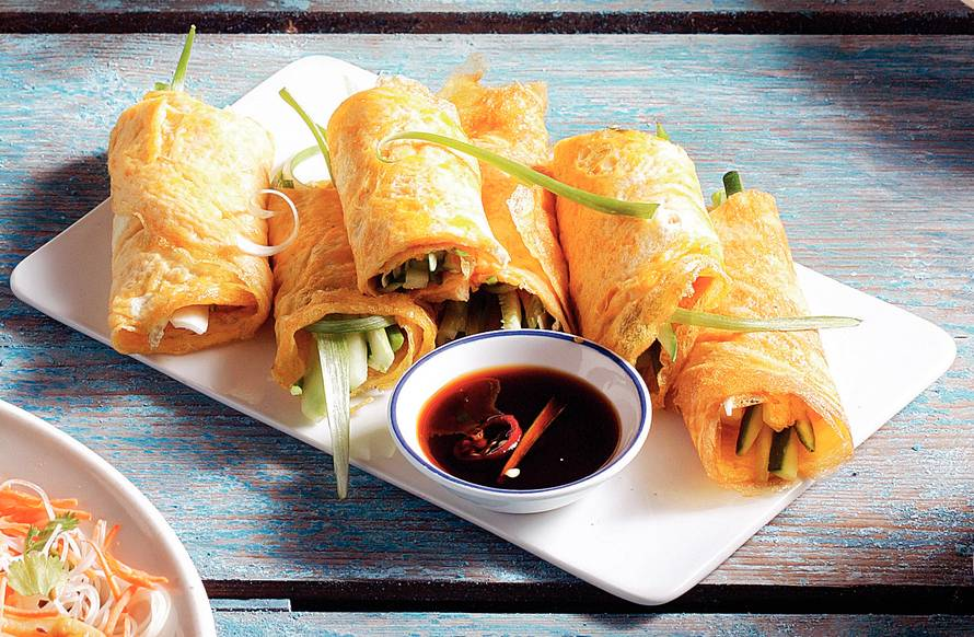 Vietnamese groenteomeletjes