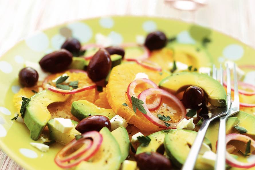 Sinaasappel-avocadosalade