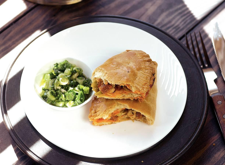 Empanada's met groene-pepersalsa