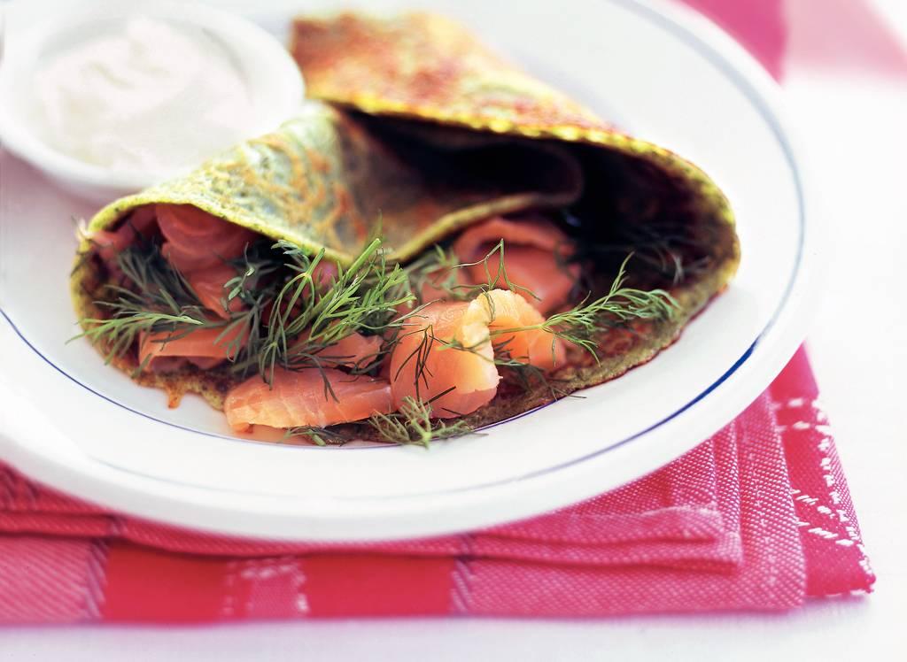 Pannenkoeken met vis