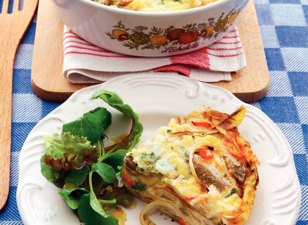 Witloffrittata met kaas uit de oven - Albert Heijn