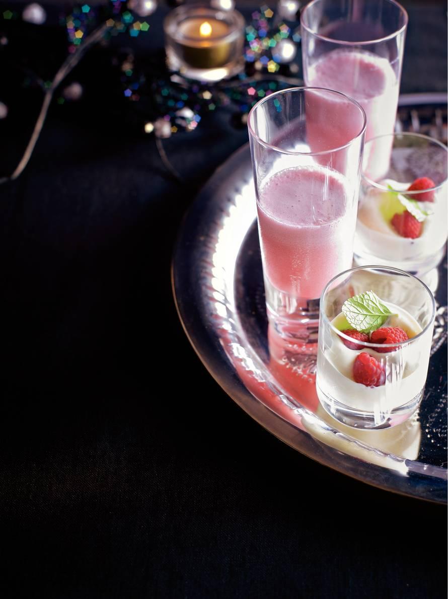 Sgroppino cocktail met framboos