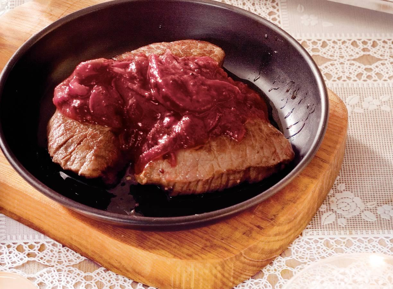 Hertenbiefstukjes met cranberrycompote