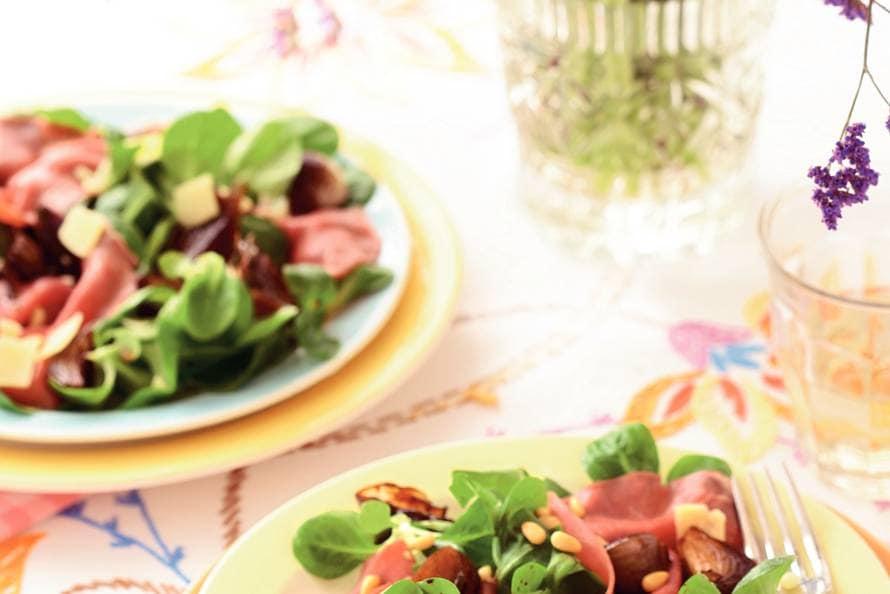 Salade van lamscarpaccio