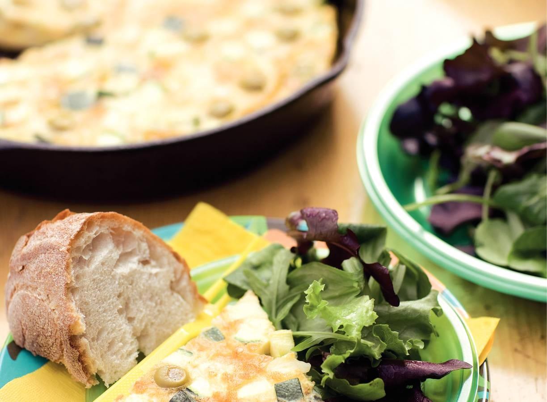 Courgettefritatta met olijven