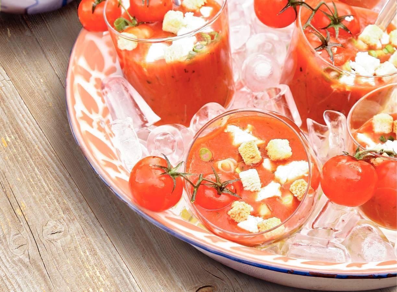 Gazpacho met witte kaas