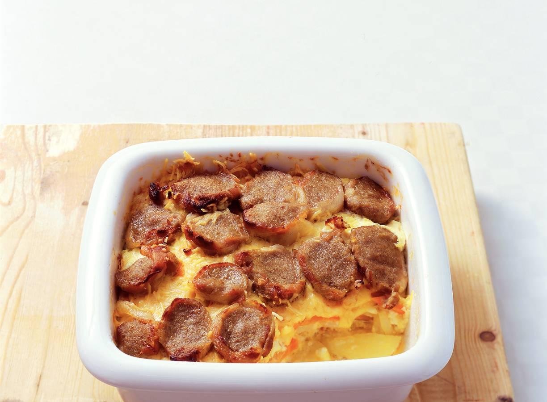 Aardappel-wortelgratin