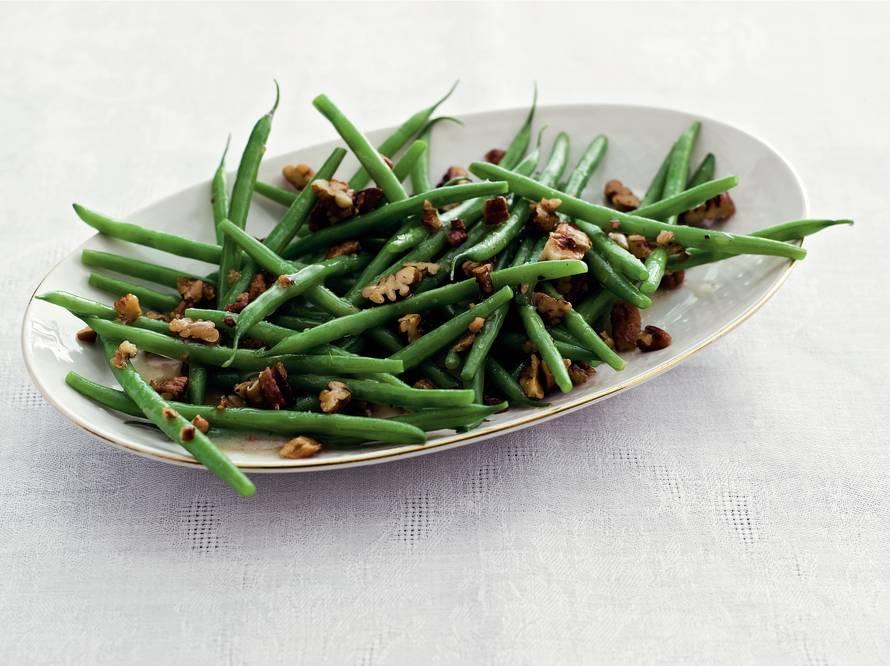 Haricots verts met pecannoten