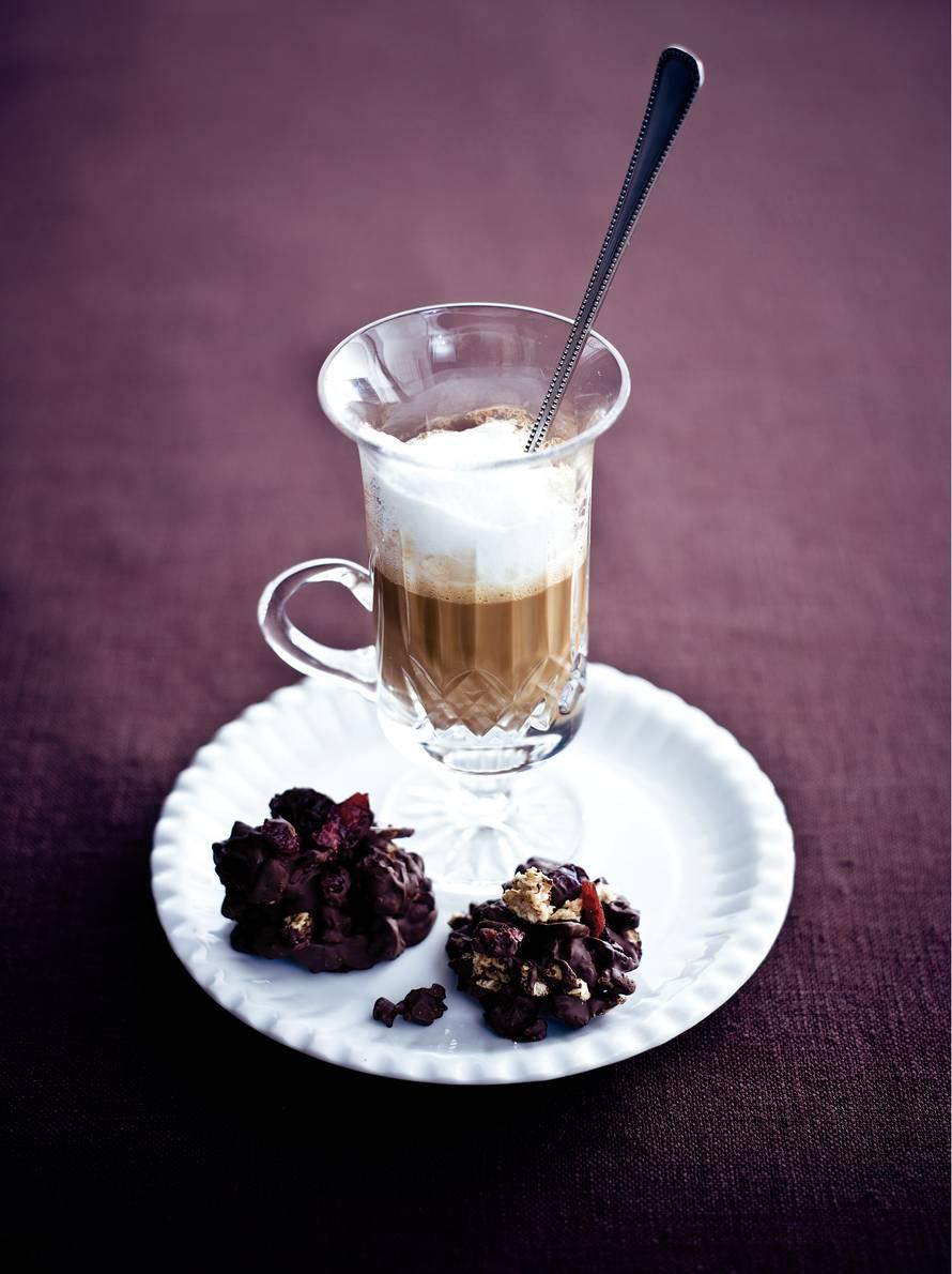 Koffie met witte chocoladeroom