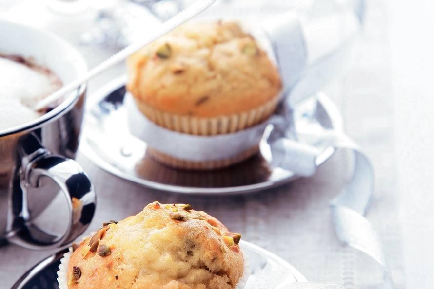 Muffins met pistachenoten