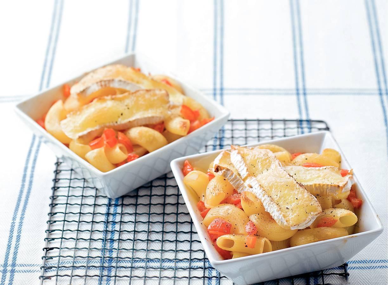 Macaroni met camembert