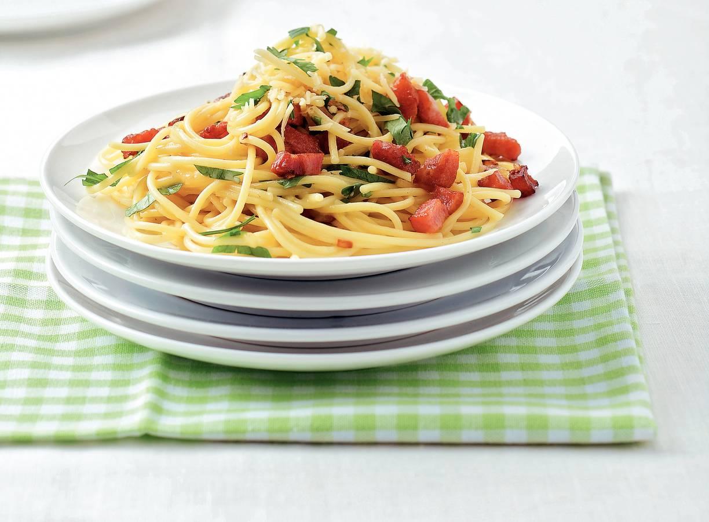 Snelle spaghetti carbonara