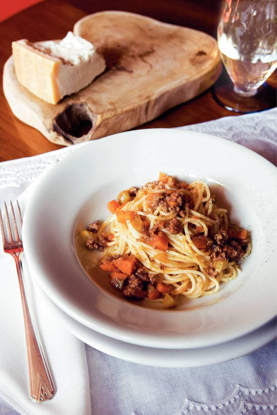 Roberto Payers spaghetti bolognese