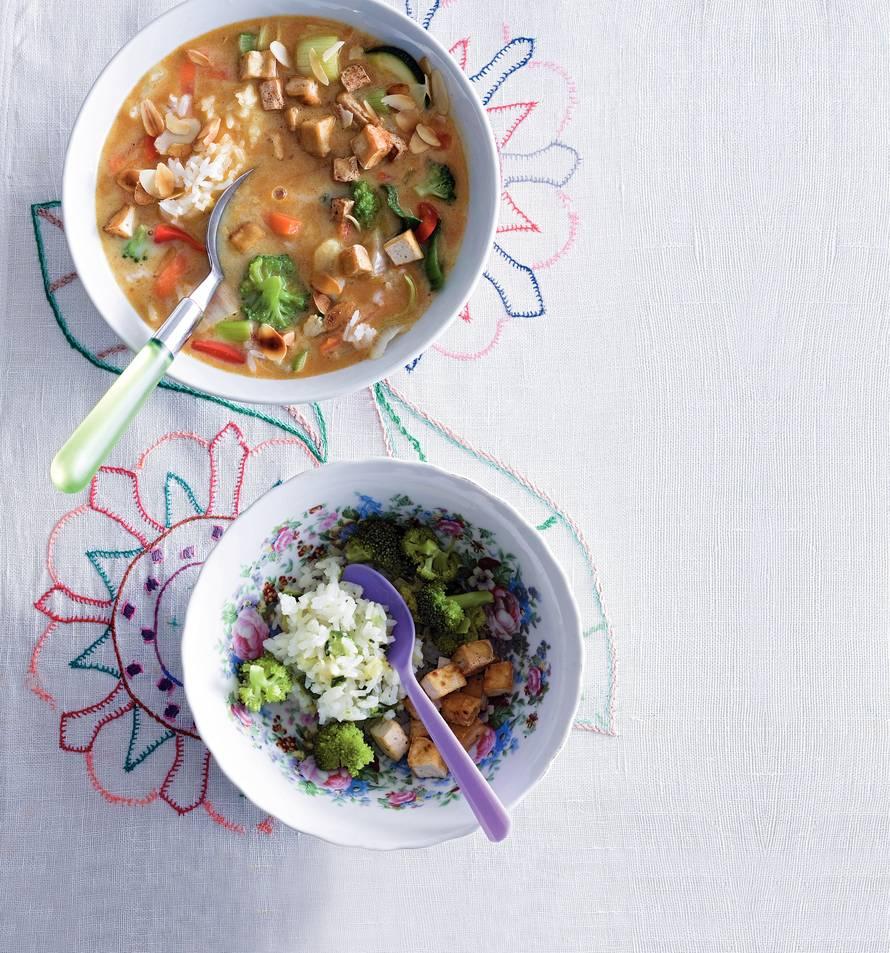 Vegetarische currysoep (baby 9 maanden)