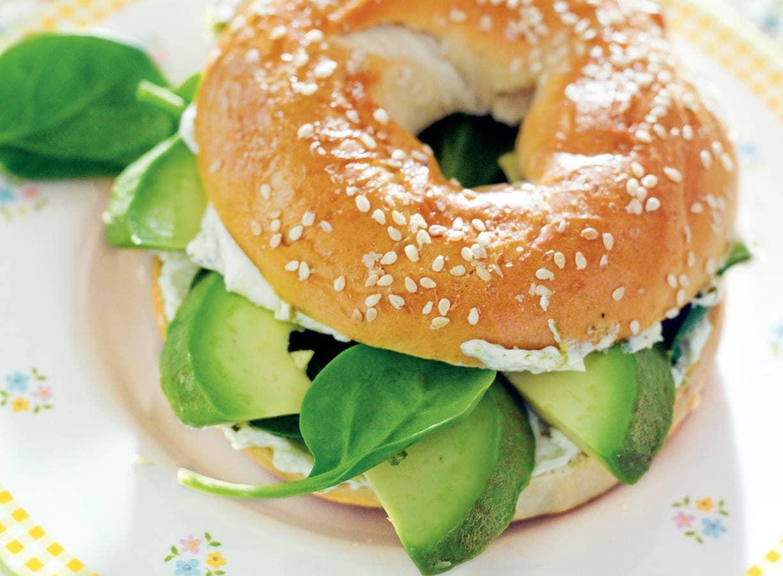 Groene bagel