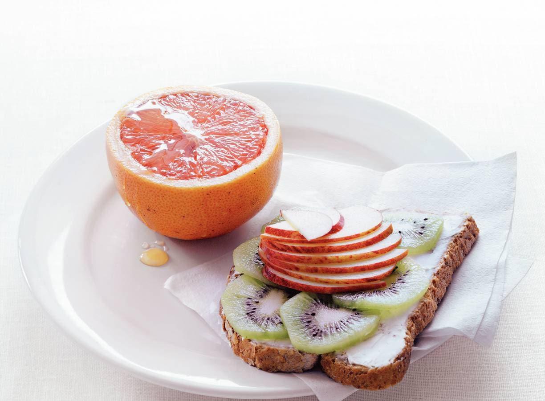 Halve grapefruit met honing